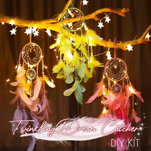 Load image into Gallery viewer, Twinkling Dream Catcher DIY Kit (With LED Light)