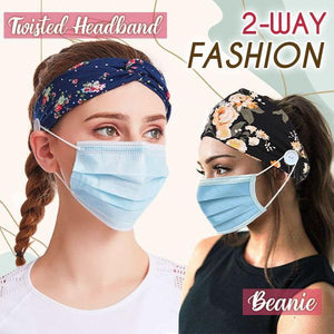 Comfy Twist Button Headbands (Set of 2)