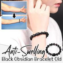 Load image into Gallery viewer, Anti-Swelling Black Obsidian Bracelet