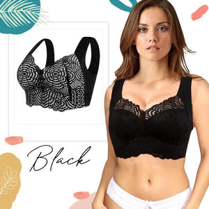 CozyFit™ Scalloped Trims Wireless Plunge Bra
