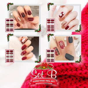 Nailtural™ Christmas Nail Art Decals (Set of 4)