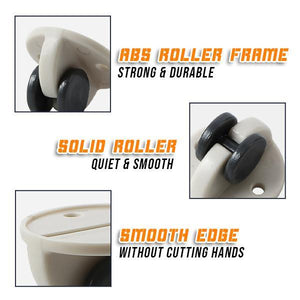 Furniture Adhesive Double Wheels (4pcs)