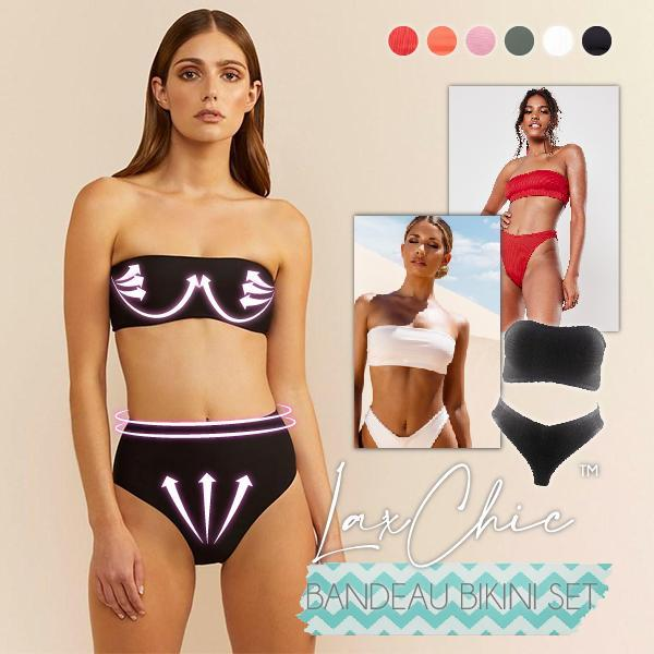 👙❤️🌟🌟🌟🌟🌟REVIEWS❤️👙 LaxChic™ Bandeau Bikini Set 🕑50% OFF TODAYS ONLY🕑