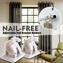 Load image into Gallery viewer, Nail-free Adjustable Rod Bracket Holders