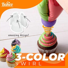 Load image into Gallery viewer, Bakeo™ Tri-Color Pastry Nozzle