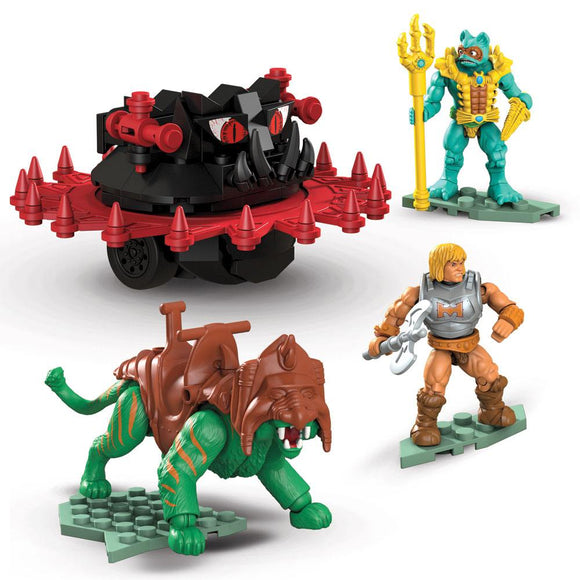 Masters of the Universe (MOTU) Mega Construx Probuilders Battle Cat vs Roton