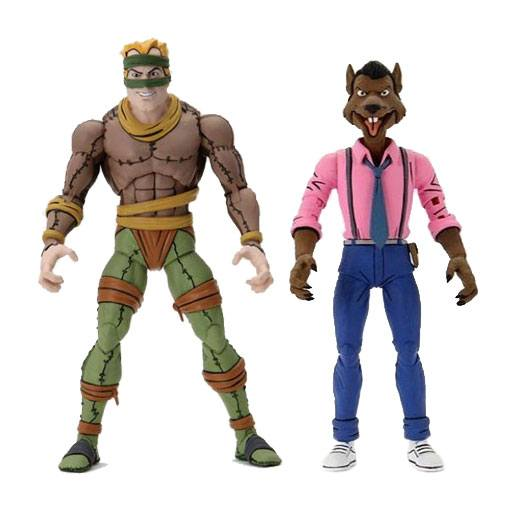 NECA TMNT Cartoon Rat King & Vernon Action Figure 2-Pack