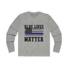 Load image into Gallery viewer, Long Sleeve Blue Lives matter t-shirt