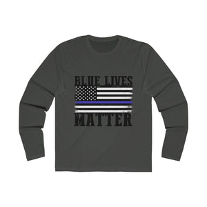 Long Sleeve Blue Lives matter t-shirt