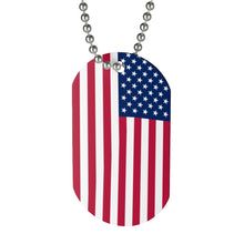 Load image into Gallery viewer, American Flag Dog Tag