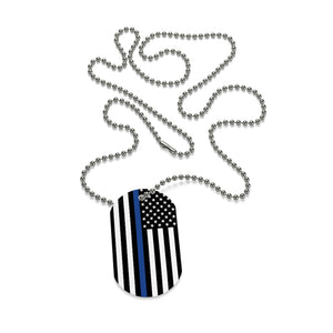 Police Flag Dog Tag
