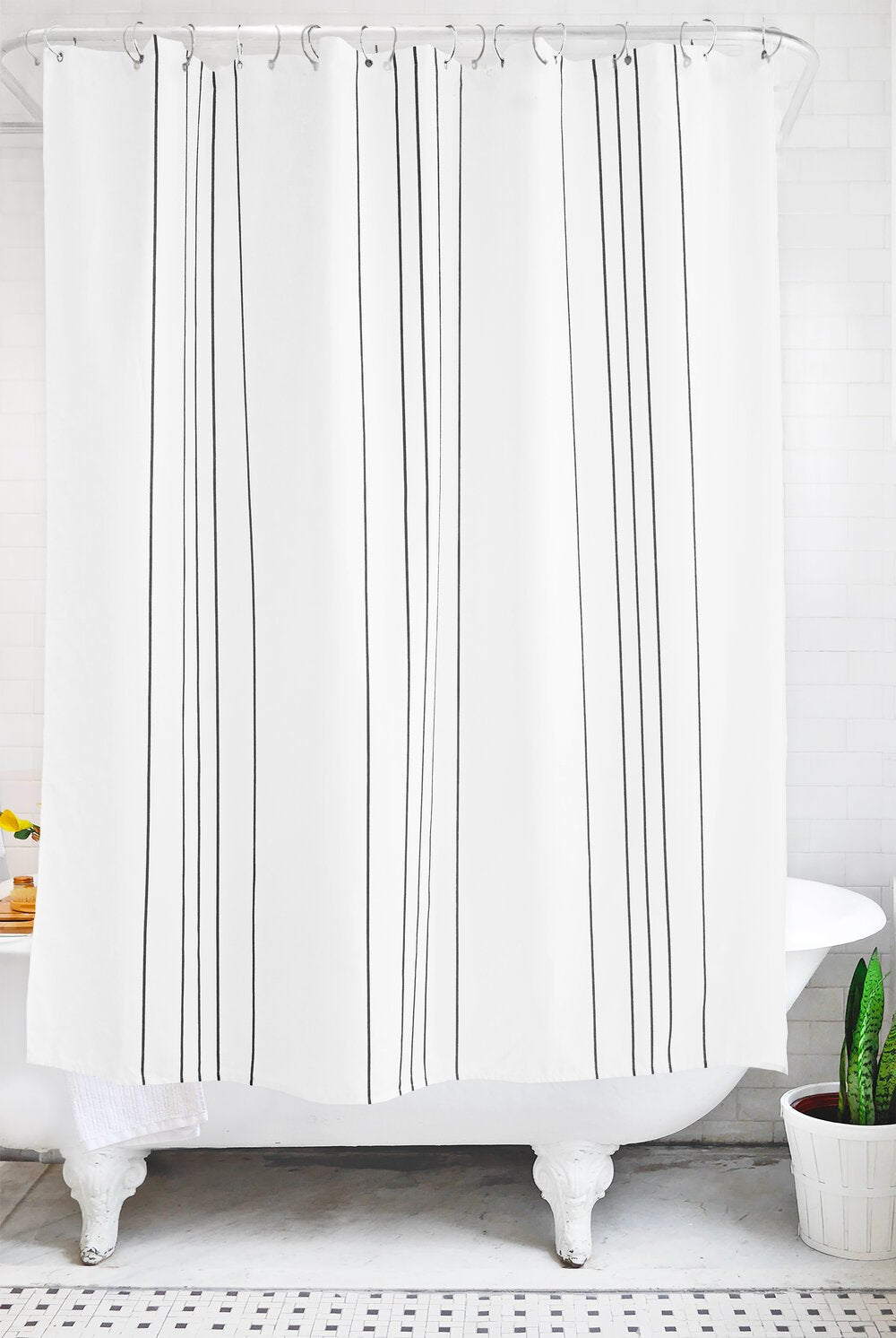 stripe: charcoal and white - Bathage
