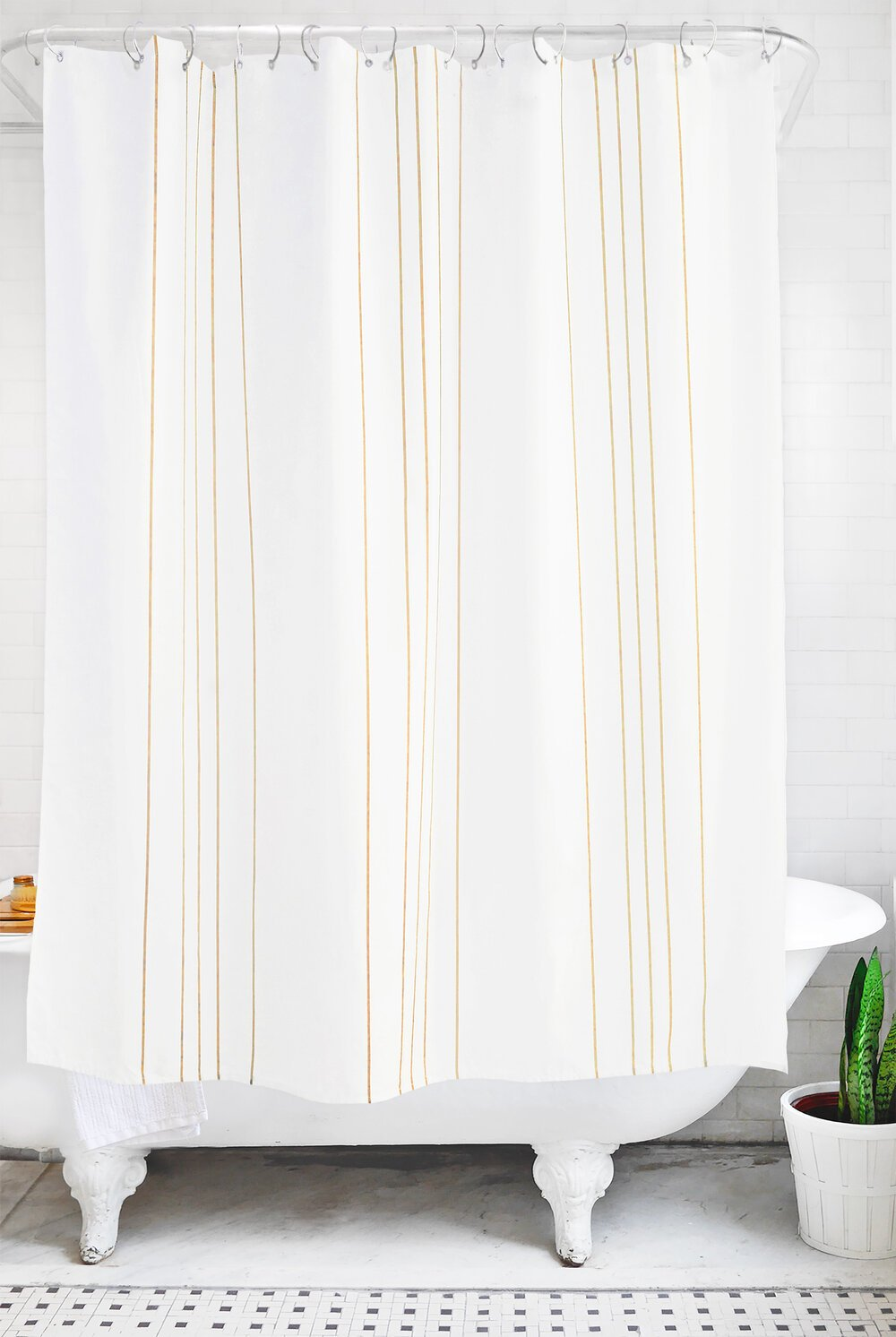stripe: ochre and white - Bathage