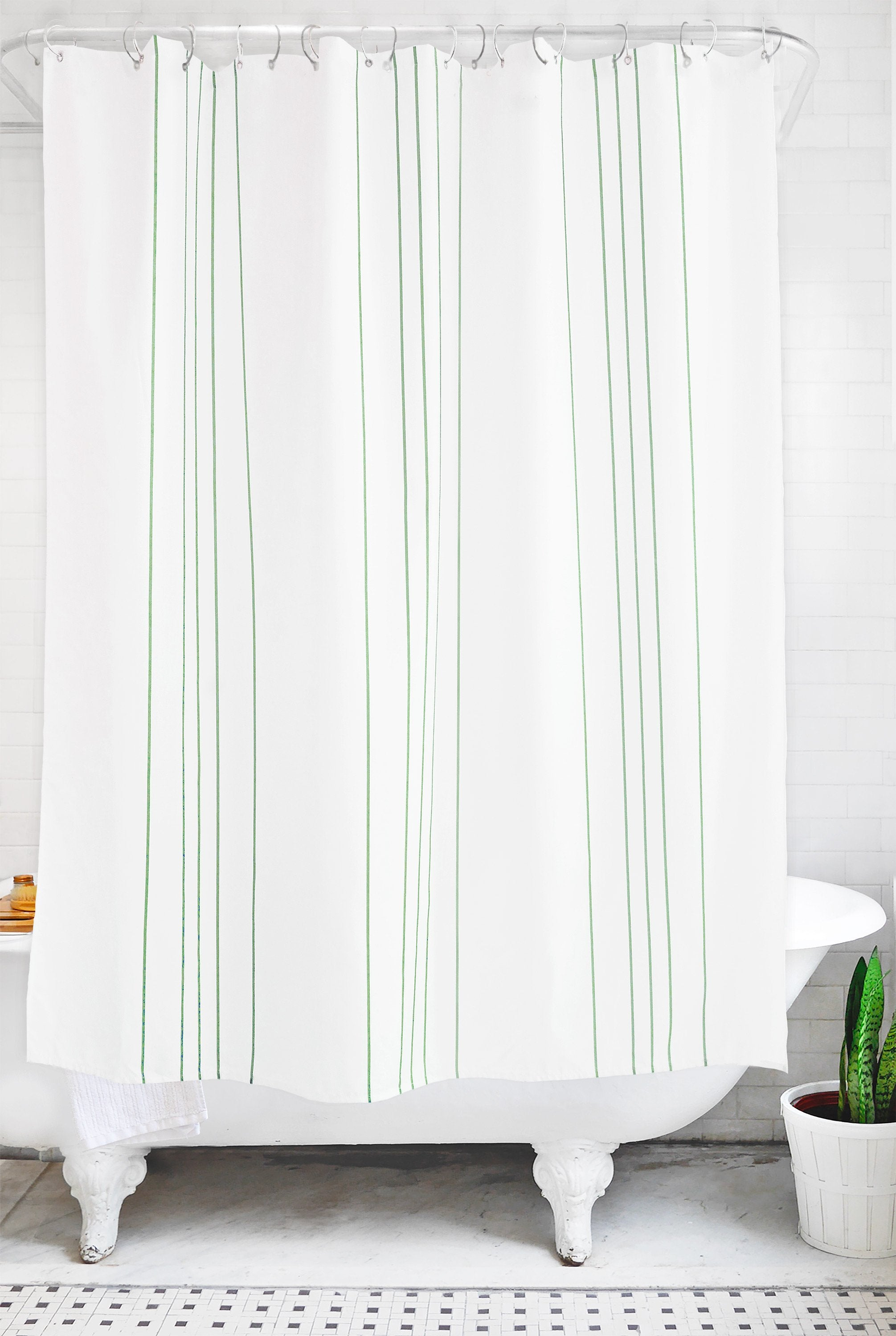 stripe: sage and white - Bathage