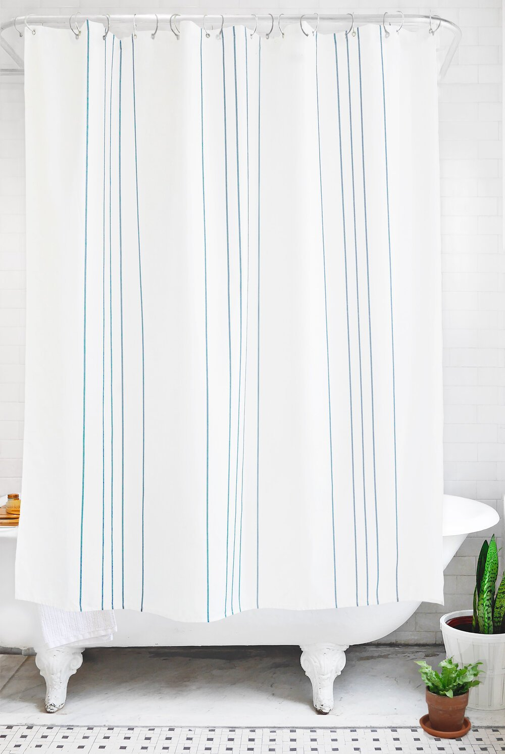 stripe: sea glass and white - Bathage