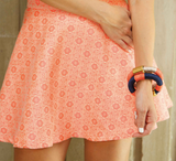 Chloe A Line Skirt in Coral
