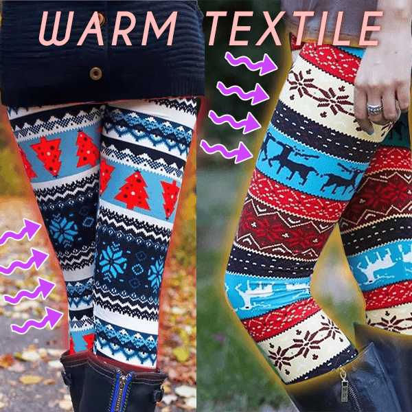 Winter Knitted Nordic Leggings