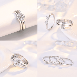 3-in-1 Elegant Four Leaf Clover Ring