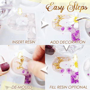 Crystal Resin Alphabet DIY Kit