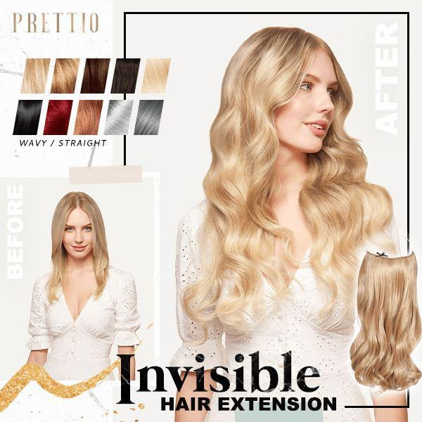 Prettio™ Invisible Hair Extension Beauty & Personal Care US Wishingoal Honey Blonde Wavy