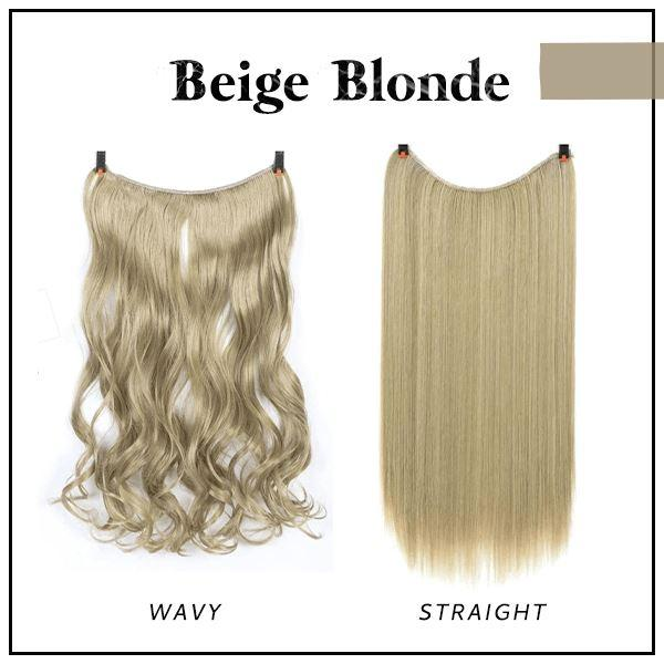 Prettio™ Invisible Hair Extension Beauty & Personal Care US Wishingoal Beige Blonde Wavy