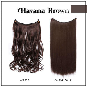 Prettio™ Invisible Hair Extension Beauty & Personal Care US Wishingoal Havana Brown Wavy
