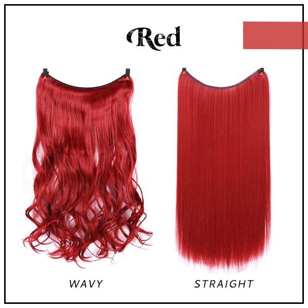 Prettio™ Invisible Hair Extension Beauty & Personal Care US Wishingoal Red Wavy