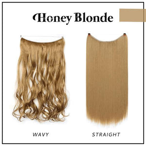 Prettio™ Invisible Hair Extension Beauty & Personal Care US Wishingoal Honey Blonde Straight
