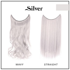 Prettio™ Invisible Hair Extension Beauty & Personal Care US Wishingoal Silver Wavy