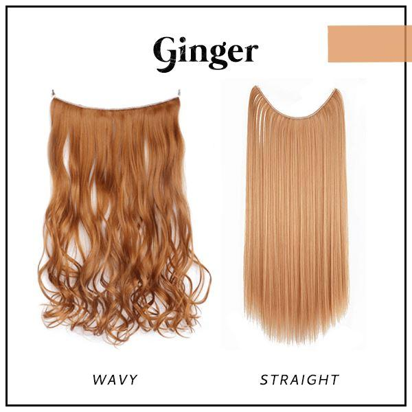 Prettio™ Invisible Hair Extension Beauty & Personal Care US Wishingoal Ginger Wavy