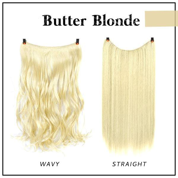 Prettio™ Invisible Hair Extension Beauty & Personal Care US Wishingoal Butter Blonde Wavy