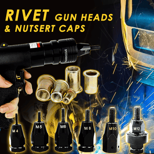 Rivet Gun Head & Nutsert Caps