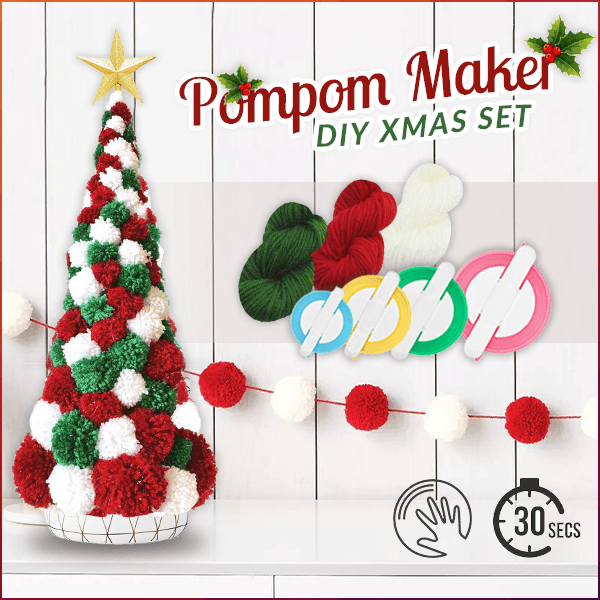 DIY Pompom Maker Xmas Set