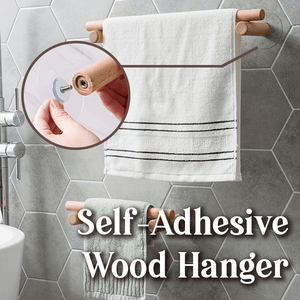 Self-Adhesive Wood Hanger