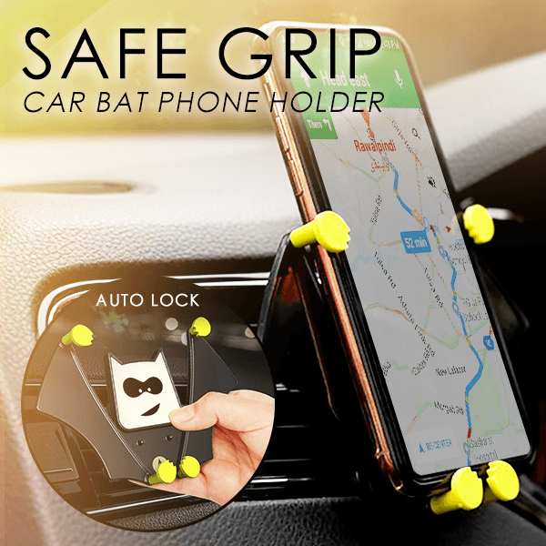 Safe Grip Car Bat Phone Holder