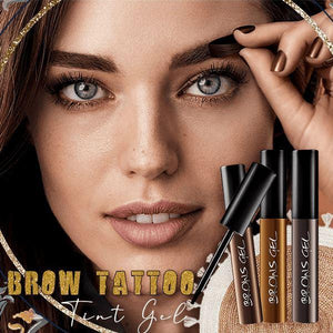 Brow Tattoo Gel Tint Beauty glassywhite Chestnut Brown