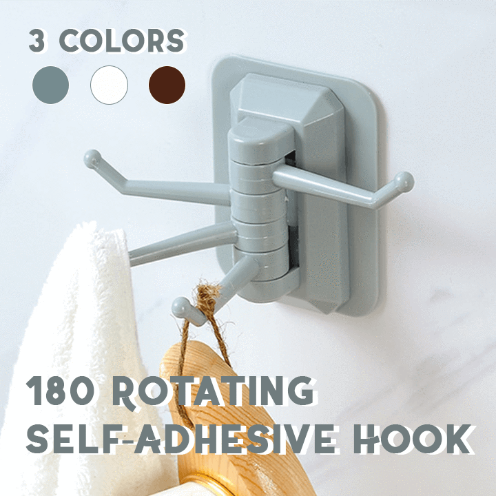 180° Rotating Self-Adhesive Hook