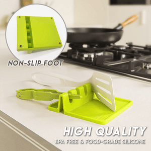 Kitchen Silicone Utensil Rest (2pcs)