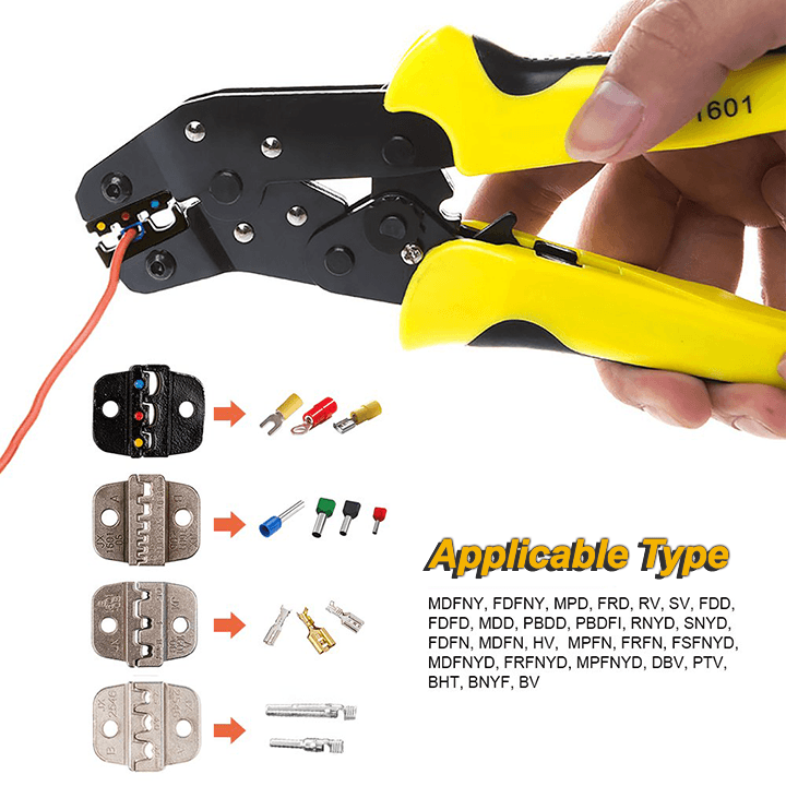 Ratcheting Wire Terminal Crimper