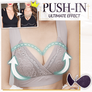 PlusBra+ Lace Push-Up Seamless Bra