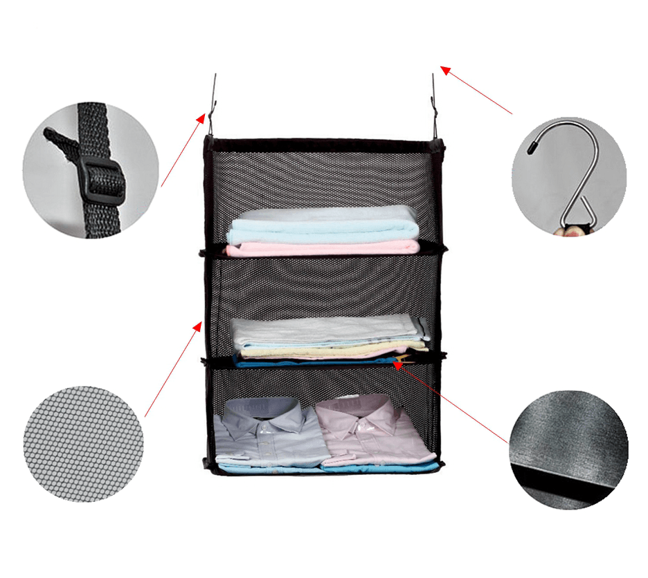 3-Layer Travel Wardrobe Bag - Clevativity