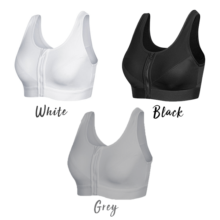 Front Zip Wireless Sports Bra