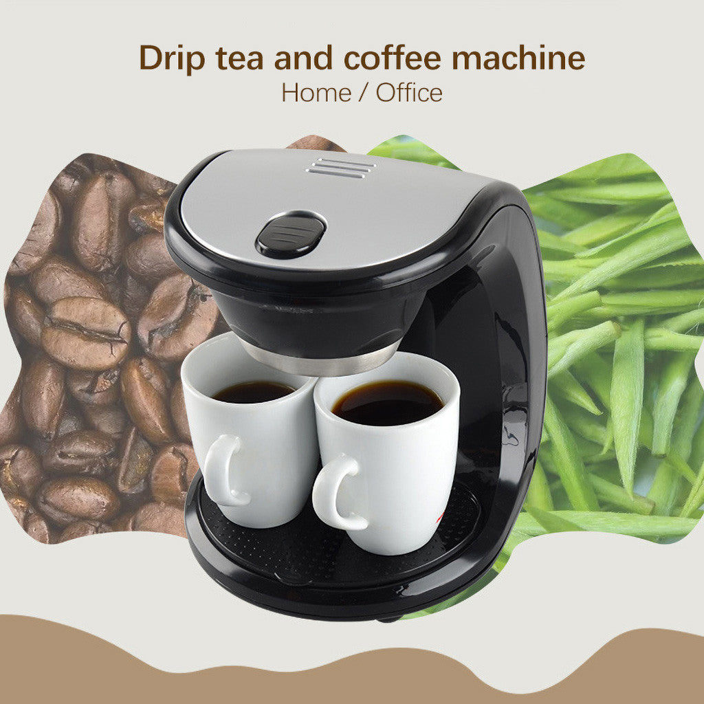 Automatic Steam Drip Type Mini Double Cup Coffee Maker