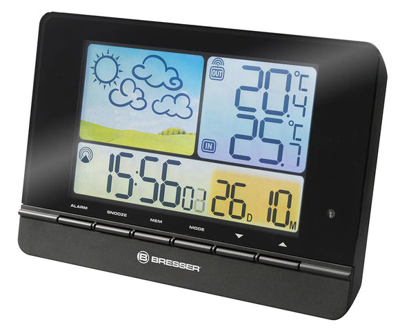 Bresser MeteoTrend Colour RC Weather Station, black