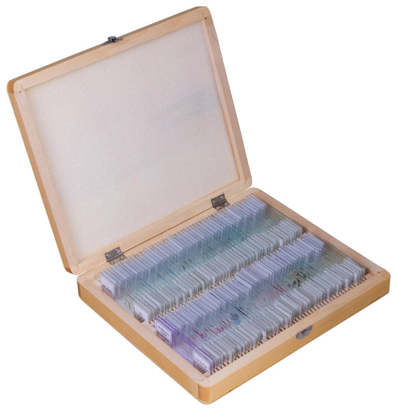 Bresser Prepared Slides Set 100pcs, with case