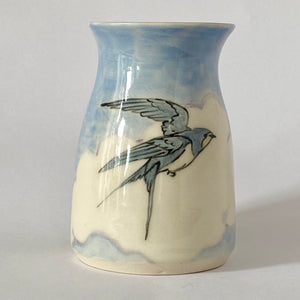 Swallow In Clouds I Vase