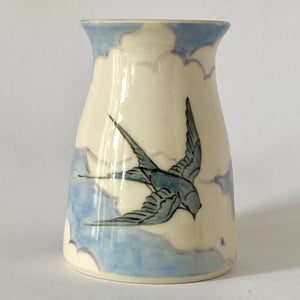 Swallow in Clouds II Vase