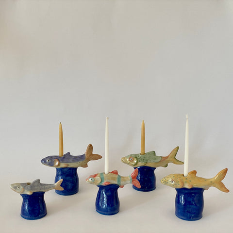 School of Fish Candlesticks
