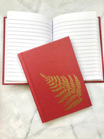 Gold Fern A6 Lined Notebook