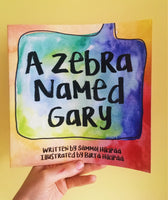 Signed Copies - A Zebra Named Gary - Childrens book, Gifts for kids, Watercolour art, Animal Alphabet, Alphabet book, Kids Book, Zoo Book, Picture Book